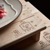 (TOFU)Tofu man wooden tray (large)