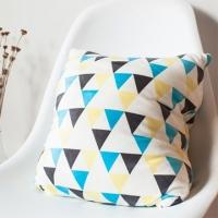 Fantasy Geometric Pillow - Yellow Blue