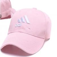 Outdoor Summer Plain Cap Adi Triangle Pink