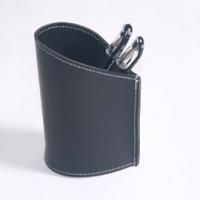 [TAITRA] Artkina Water-Drop Shaped Multifunctional Leather Pen Holder - Black