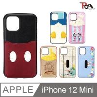"(pga-ijacket)[Japan PGA] iPhone 12 Mini 5.4"" Disney Military Specification Pocket Card Dual Case"