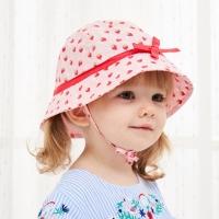 (Kori Deer)Kori Deer Kori Deer Pink Strawberry Cotton Baby Girl Child Bandage Sun Hat