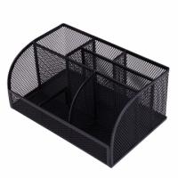 (Deli)Deli Deli Steel Mesh Desktop Storage Box-22x14x10cm(8903)