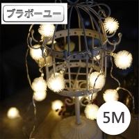ブラボ一ユOne LED party decoration/Christmas lighting string (dandelion/warm white/5M)