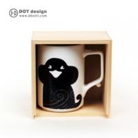 (Dot Design)[The Dot Design] flower monkey cup Monkey Mug wavy purple