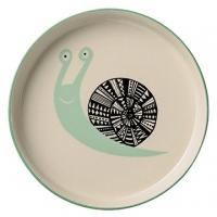 丹麥Bloomingville 小蝸牛陶瓷盤(粉綠)