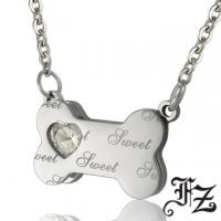 (FZ )FZ sweet bone white steel necklace
