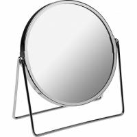 VERSA 圓形雙面立式桌鏡(銀)