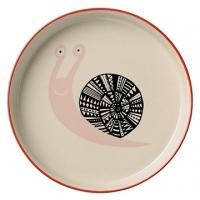 丹麥Bloomingville 小蝸牛陶瓷盤(粉紅)