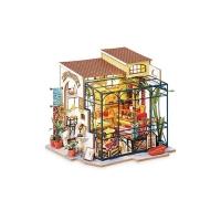 (Robotime)Corner Shop Art House-Emily's Flower Shop