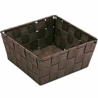VERSA 方形編織收納籃(深棕19cm)