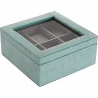 (Versa)Versa Suede watch and accessories storage box (blue and green)