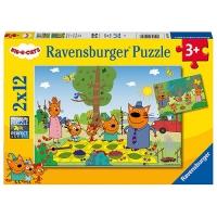 (Ravensburger)German Ravensburger Verbo Jigsaw Puzzle Kitsch (2*12 pieces)