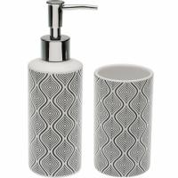 (VERSA)VERSA Hand Wash Milk Can + Toothbrush Cup (Psychedelic Black 250ml)