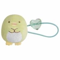 小禮堂 角落生物 企鵝 造型絨毛彈力髮圈 造型髮束 絨毛髮圈 (綠 坐姿)
