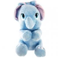 小禮堂 迪士尼 小飛象 絨毛玩偶 絨毛娃娃 布偶 大娃娃 (L 藍 綁耳)