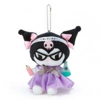 小禮堂 酷洛米 制服絨毛玩偶娃娃吊飾《黑紫》掛飾.鑰匙圈
