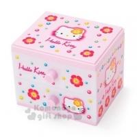 小禮堂 Hello Kitty 桌上型塑膠雙抽收納盒《粉白》置物盒.抽屜盒.45週年紀念