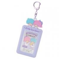 小禮堂 雙子星 造型拍立得收納套鑰匙圈《粉紫》票卡夾.掛飾.演唱會粉絲收納