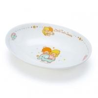 小禮堂 雙子星 橢圓陶瓷咖哩盤《白棕》沙拉盤.點心盤.異國廚房