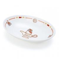 小禮堂 Hello Kitty 橢圓陶瓷咖哩盤《白紅》沙拉盤.點心盤.異國廚房