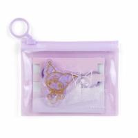 小禮堂 酷洛米 造型壓克力彈力髮圈 附收納包 造型髮束 塑膠髮圈 (紫金)