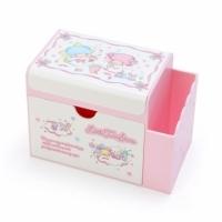 Small Auditorium Gemini Square Plastic Mirror Pen Holder Drawer Box Storage Box Makeup Mirror Box Small Storage (Pink White Ribbon Frame)