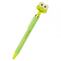Small Auditorium Big Eye Frog Shaped Ball Pen Automatic Ball Pen Black Pen Metal Pen Holder (Green Big Face Stationery)