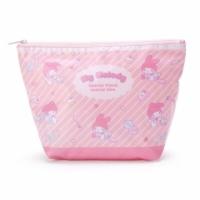 小禮堂 美樂蒂 船形尼龍化妝包 大容量化妝包 防水化妝包 盥洗包 (粉白 滿版)