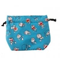小禮堂 哆啦A夢 尼龍束口便當袋 束口袋 手提袋 小物收納袋 (藍 滿版)