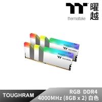 (thermaltake)Thermaltake TOUGHRAM RGB Memory DDR4 4000MHz 16GB White