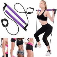 Multi-element body sculpting fitness training elastic bar set-purple