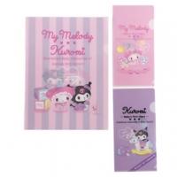 Small Auditorium Melody Kuromi Japanese-made file folder group folder file folder L folder (3 into pink baby memories)