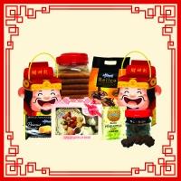 [CNY DEALS] Chai Shen Butter Pineapple Tart/Chai Shen Peanut Crunchy Bar/Love Letter/Choco Cookies/Belgium Choc Cookies/GIFT BOX MAS BEAR DANISH COOKIES (WITH BEAR)_SET 5