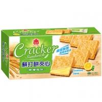 義美蘇打餅夾心-檸檬風味144g