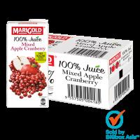Marigold 100% No Sugar Added Juice 1L - Mixed Apple Cranberry