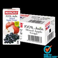 Marigold 100% No Sugar Added Juice 1L - Mixed Apple Grape