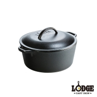 (lodge)Lodge Cast Iron Dutch Pot 5Q/4.7L (New Welfare Product)
