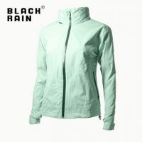 (Black Rain)[Black Rain] Female hooded waterproof and breathable jacket hidden BR-80070 (246 light green)