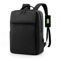 (CHOSEN)CHOSEN Staff Fashionable USB Charging Waterproof Large Capacity Business Leisure Travel Business 15.6-inch Laptop Large Capacity Backpack Back