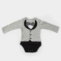 (Frenchie MC)American Frenchie MC Baby Boy Jumpsuit - Beckham (Long Sleeve)