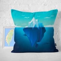 (IHERMI)IHERMI Pure Natural Ice Deep Sea Pillow Case 45cm Made in Taiwan