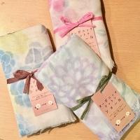Japan Organic floral scarves