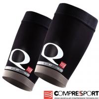 (Compressport)Switzerland Compressport Kinesiology compression - thigh sleeve (black / one pair)