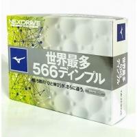 (Mizuno)World's Most Wind Tunnel Ball Mizuno JPX NEXDRIVE 566 Wind Tunnel Golf White Ball