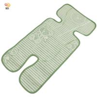 (MB) 5-point Universal Stroller Safety Seat Linen Straw Mat Cool Mat (Z770)