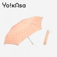 [Yo!kAsa] Sunscreen Japanese Flower Hand-opened Folding Umbrella-Pink Orange