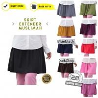 [READY STOK + FREEGIFT] Mini Skirt Tutup Punggung Skirt Pendek Muslimah Sport Mini Skirt Extender Casual