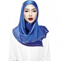 Semlouis 2 in1 Hijab Bawal - Hiasan Manik Segi Empat