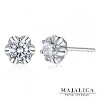 (Majalica)Majalica 925 sterling silver earrings flower story imaginary drill PF6143